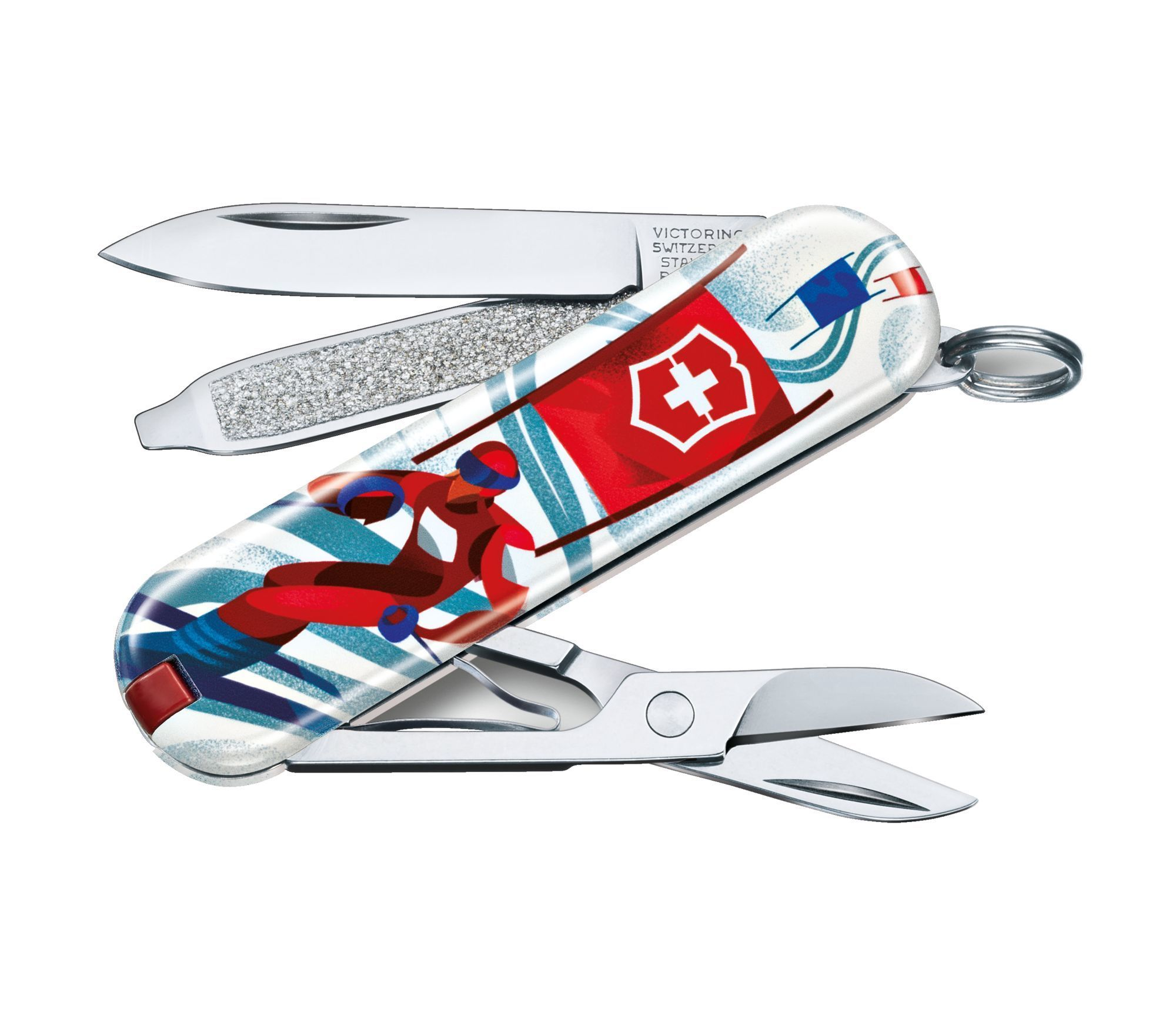 Складной нож Victorinox Classic LE2020 Ski Race, 58 мм 7 функций складной нож victorinox classic le2020 ski race 7 функций 58мм синий рисунок