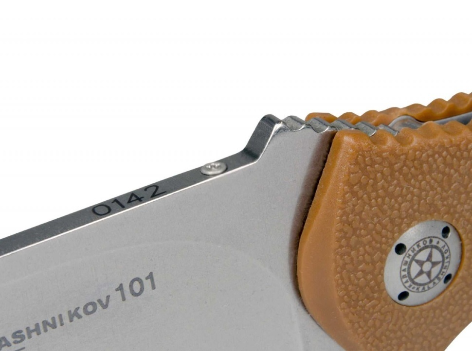 Фото 8 - Нож складной AK-101 42, сталь 440C Bead Blast Plain, рукоять термопластик FRN, песочный, BOKER 01KAL103