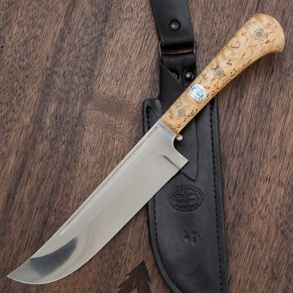 Нож разделочный Пчак-Н ЦМ, карельская береза, АиР