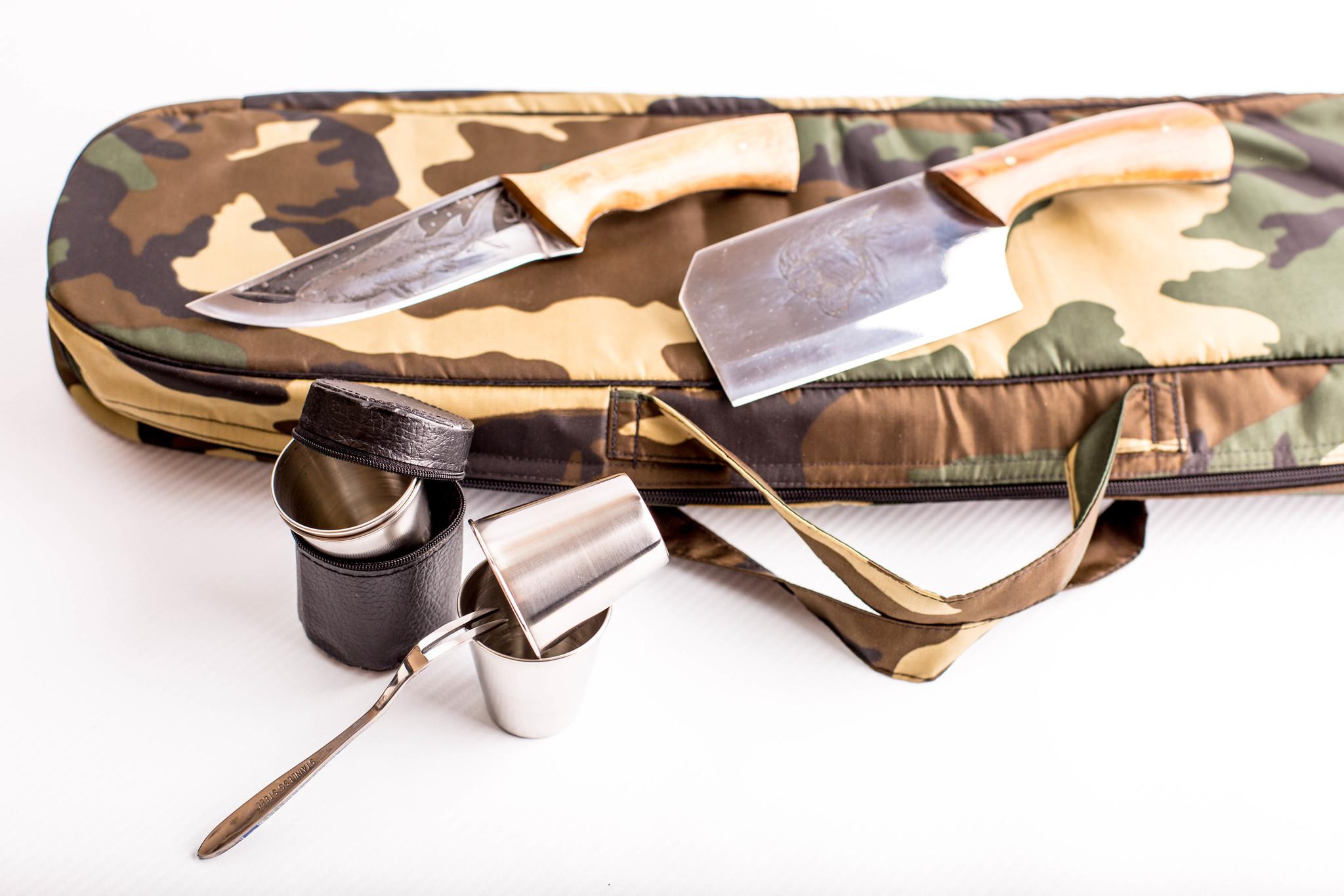 Фото 8 - Шашлычный набор Камуфляж, Кизляр от Кизляр СТО