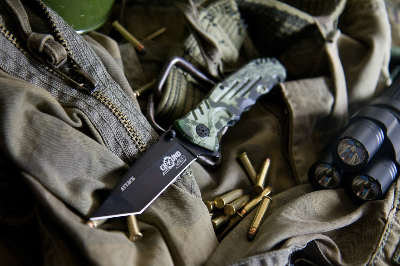 Складной нож Attack 8Cr13MoV от Ground Zero