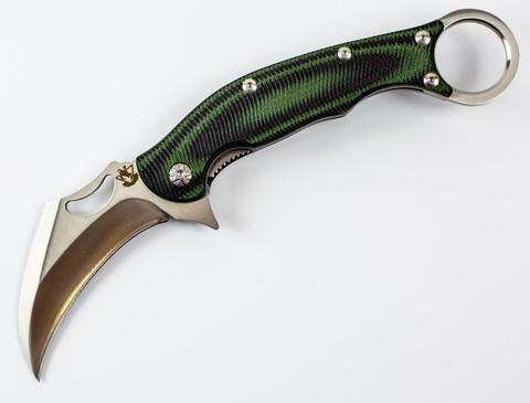 Складной нож Керамбит, зеленый - Nozhikov.ru