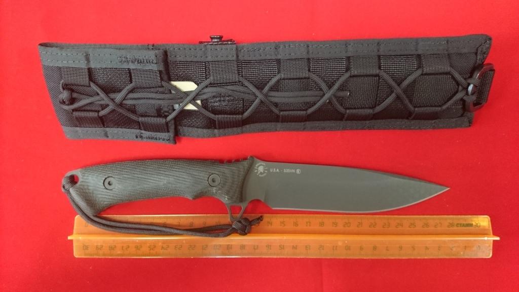 Фото 4 - Нож с фиксированным клинком William Harsey Difensa (Black SpartaCoat/Black Micarta/Black Sheath) 15.9 см. от Spartan Blades