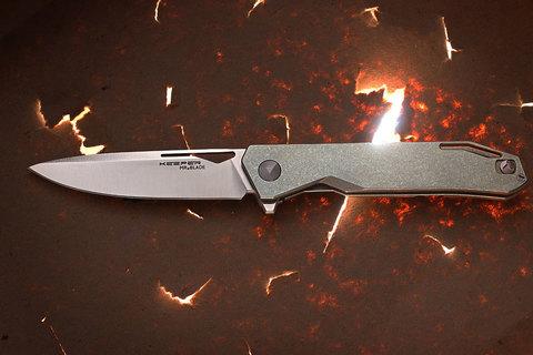 Складной нож Keeper M390, Titanium. Вид 1