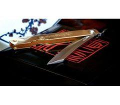 Нож складной Kanekoma Higonokami HKA-100Y, сталь Aogami, рукоять латунь, фото 7