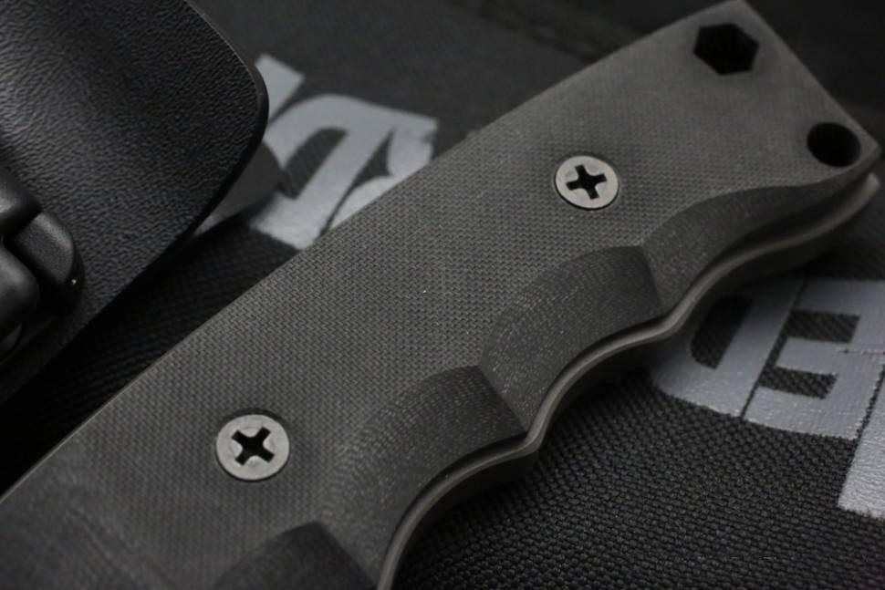 Фото 4 - Нож с фиксированным клинком Medford NAV-H, сталь D2 Black Oxide, рукоять стеклотекстолит G-10, чёрный
