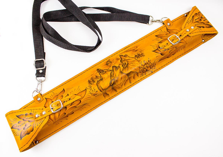 Фото 8 - Мангал с шампурами в кожаном чехле от Noname