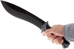 Кукри мачете Camp 10 - Kershaw 1077, сталь 65MN Carbon, рукоять прорезиненный термопластик, фото 6