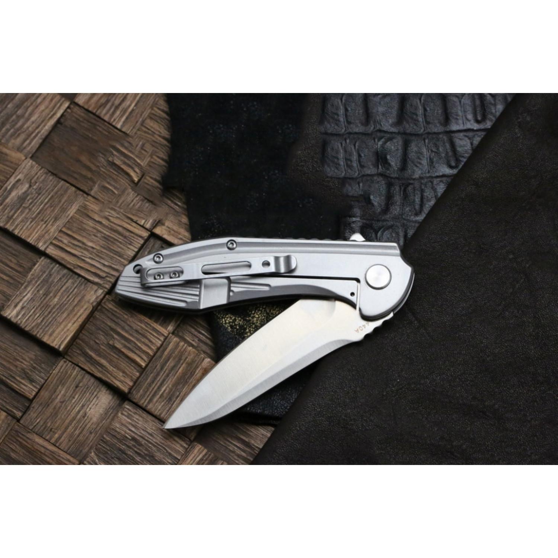 Фото 8 - Складной нож Magnum Quantum - Boker 01RY975, сталь 440A Satin, рукоять нержавеющая сталь