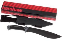 Кукри мачете Camp 10 - Kershaw 1077, сталь 65MN Carbon, рукоять прорезиненный термопластик, фото 9