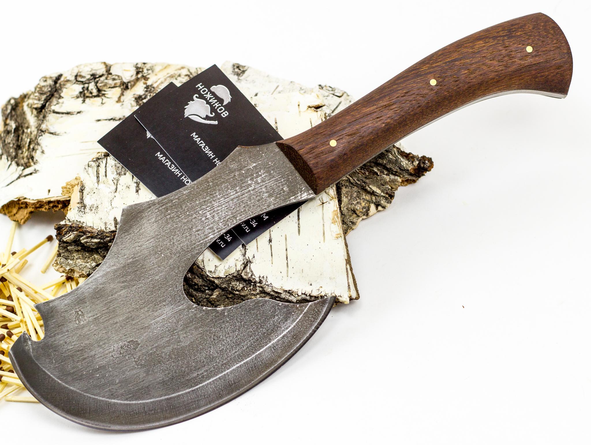 Топорик Сохатый, сталь 9XC, орех от Промтехснаб