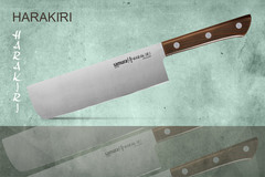 "Нож кухонный Накири Samura ""HARAKIRI"" (SHR-0043WO) 170 мм, сталь AUS-8, рукоять ABS пластик, цвет орех"