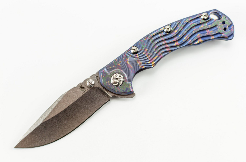 Фото 9 - Складной нож Kizer River Cat, сталь CPM-S35VN, рукоять титан, фиолетовый