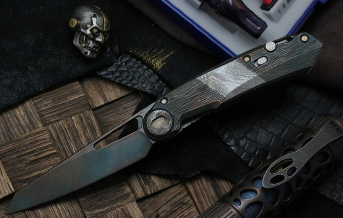 Складной нож CKF Terra Snecx VAH , сталь M390, рукоять Titanium от Custom Knife Factory