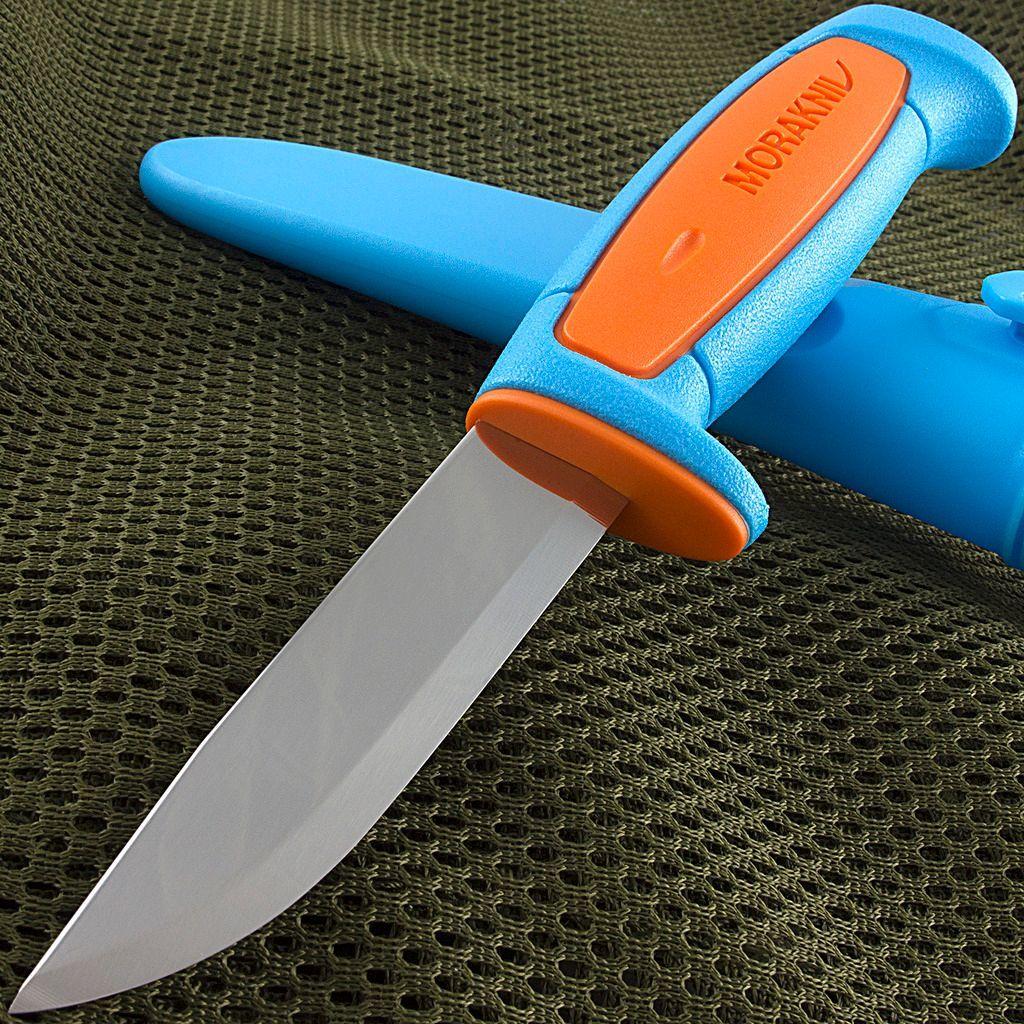 Фото 7 - Нож с фиксированным лезвием Morakniv Basic 511, углеродистая сталь, рукоять пластик, синий