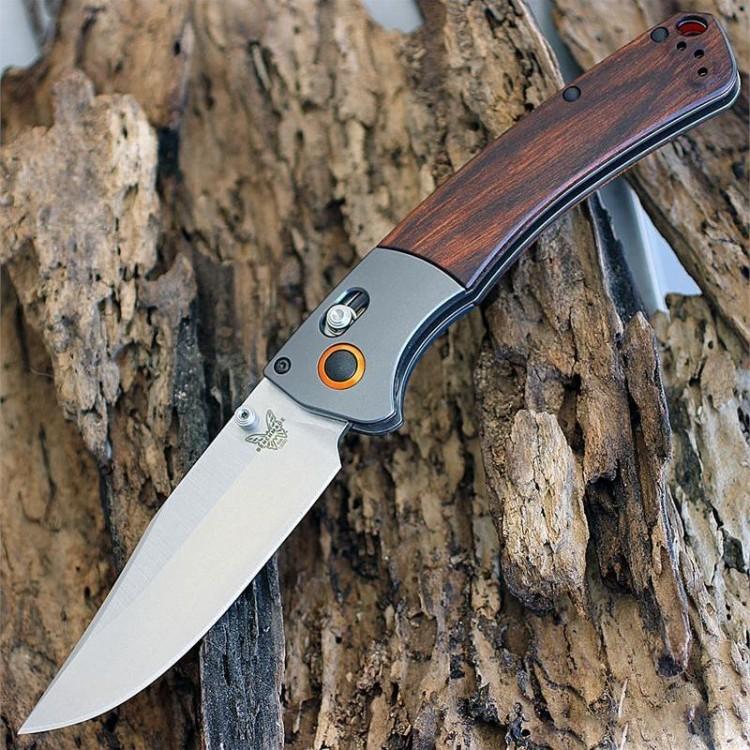Фото 7 - Нож складной Benchmade Hunt Series Crooked River Wood 15080-2, сталь CPM-S30V, рукоять дерево
