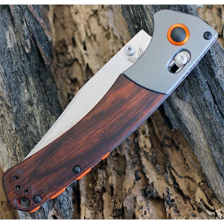 Фото 8 - Нож складной Benchmade Hunt Series Crooked River Wood 15080-2, сталь CPM-S30V, рукоять дерево