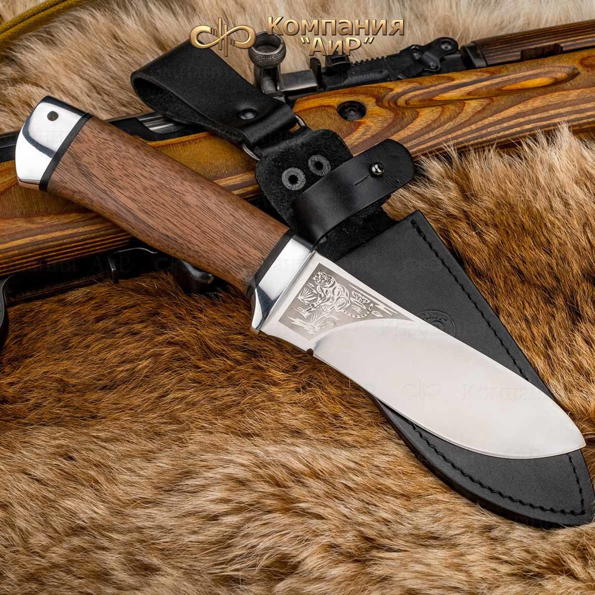 Нож разделочный Аир Гепард, сталь 100х13м, рукоять дерево