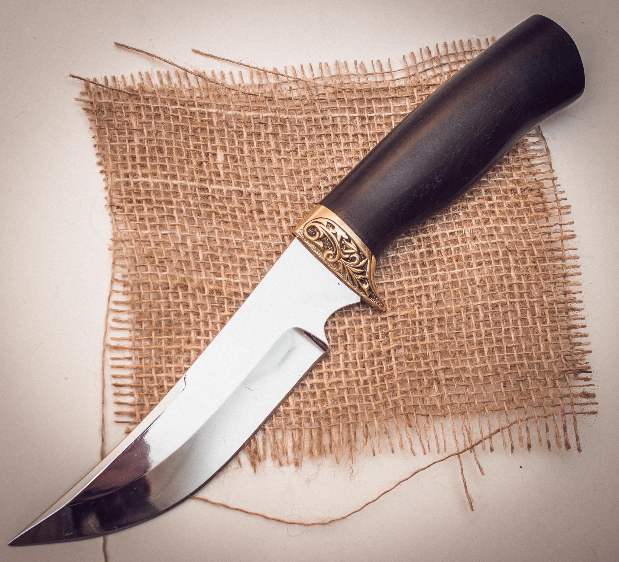 Нож Ворон, алмазная сталь