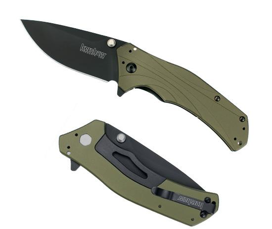 Нож складной KERSHAW Knockout с оливковой рукоятью
