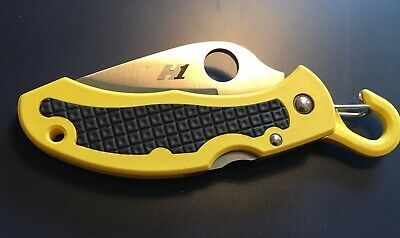 Фото 12 - Нож складной Snap-It™ Salt™ Spyderco C26SYL, сталь H1 Satin Serrated (SpyderEdge™), рукоять термопластик FRN, жёлтый