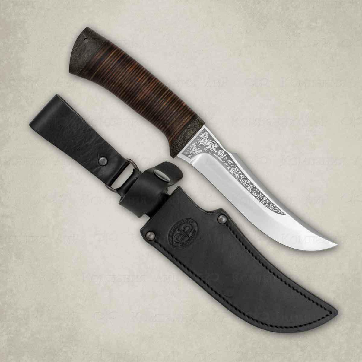 Нож Клык, кожа, сталь Elmax