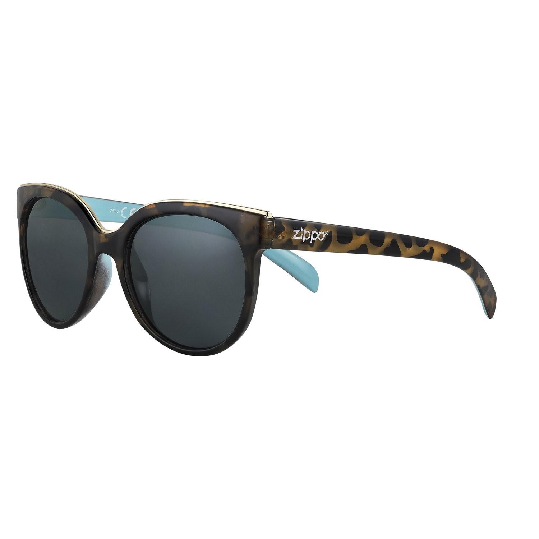 Очки солнцезащитные ZIPPO, женские, бежевые, оправа, линзы и дужки из поликарбоната