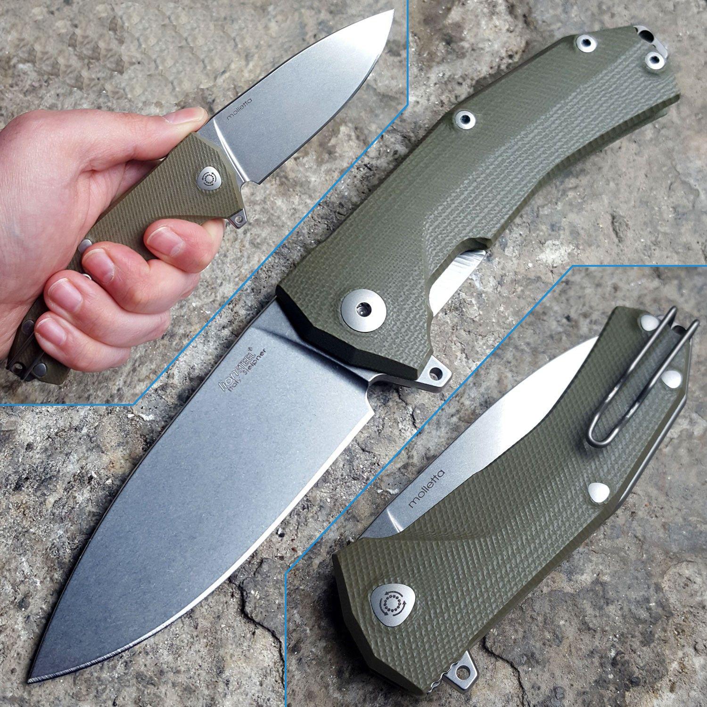 Фото 7 - Нож складной LionSteel KUR GR G10 Green Flipper, сталь Uddeholm Sleipner®, стеклотекстолит, зелёный от Lion Steel