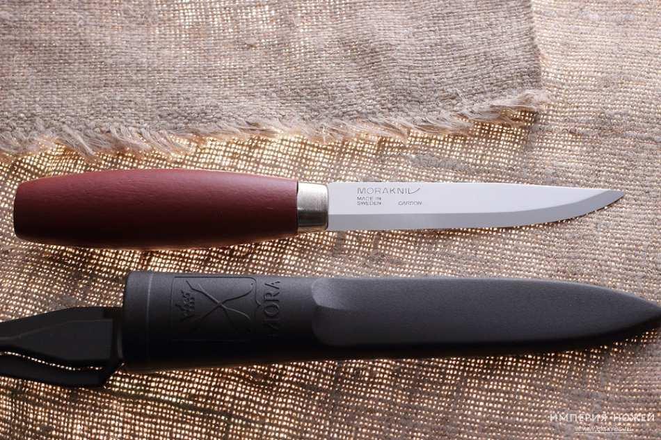 Фото 10 - Нож с фиксированным лезвием Morakniv Classic № 1, углеродистая сталь, рукоять береза