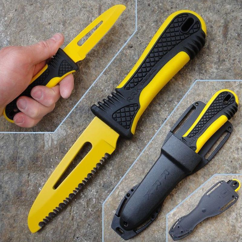 Фото 6 - Спасательный нож для яхтсменов Fantoni, Race Rescue, FAN/PC001YeL, сталь AISI 425 mod, рукоять термопластик GRN