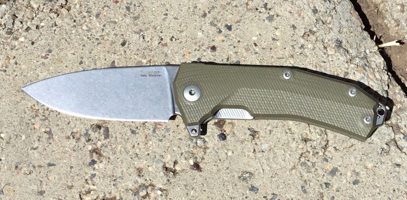 Фото 6 - Нож складной LionSteel KUR GR G10 Green Flipper, сталь Uddeholm Sleipner®, стеклотекстолит, зелёный от Lion Steel