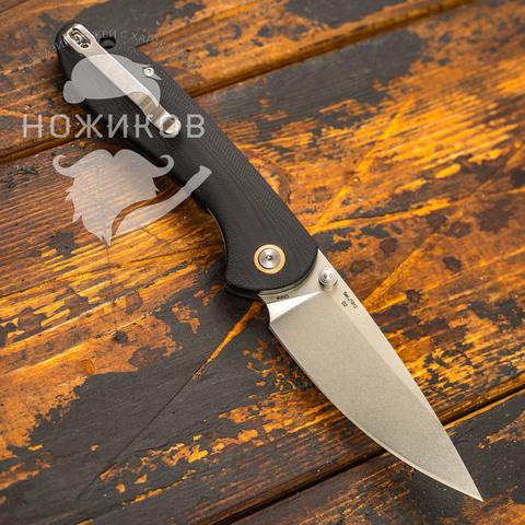 Складной нож CJRB Feldspar, сталь D2, Black G10. Вид 4