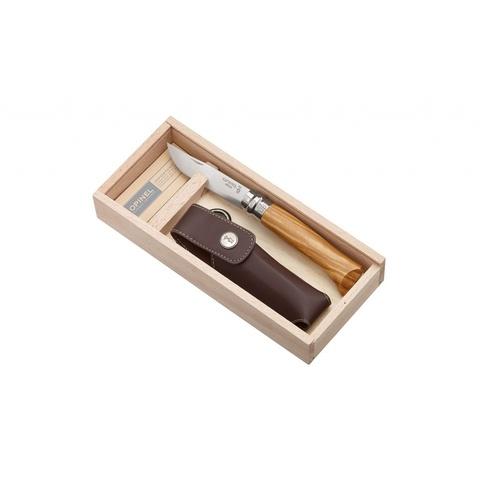 Нож складной Opinel №8 VRI Classic Woods Traditions Olivewood в деревянном кейсе - Nozhikov.ru