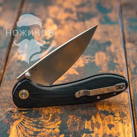 Складной нож CJRB Feldspar, сталь D2, Black G10. Вид 6