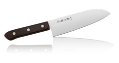 Нож Сантоку Tojyuro Tojiro, 170 мм, сталь 420J2, коричневый