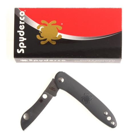 Нож складной Roadie™ Spyderco 189PGY TSA Knife (Transportation Security Administration), сталь N690Co Satin Plain, рукоять термопластик FRN, серый. Вид 2