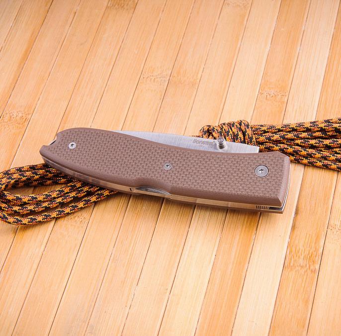 Фото 3 - Нож складной Lionsteel Big Opera 8810 SN, сталь D2, рукоять G-10, коричневый от Lion Steel