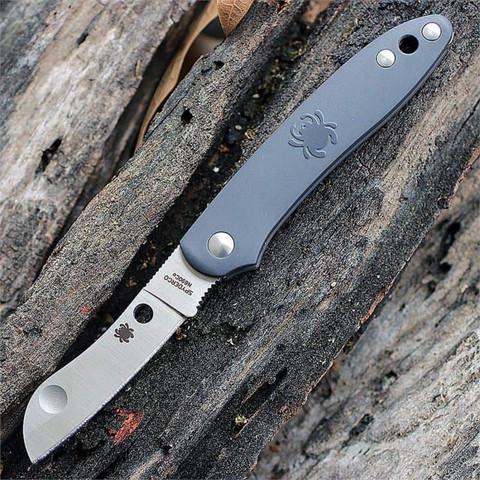 Нож складной Roadie™ Spyderco 189PGY TSA Knife (Transportation Security Administration), сталь N690Co Satin Plain, рукоять термопластик FRN, серый. Вид 3