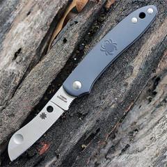 Нож складной Roadie™ Spyderco 189PGY TSA Knife (Transportation Security Administration), сталь N690Co Satin Plain, рукоять термопластик FRN, серый, фото 3