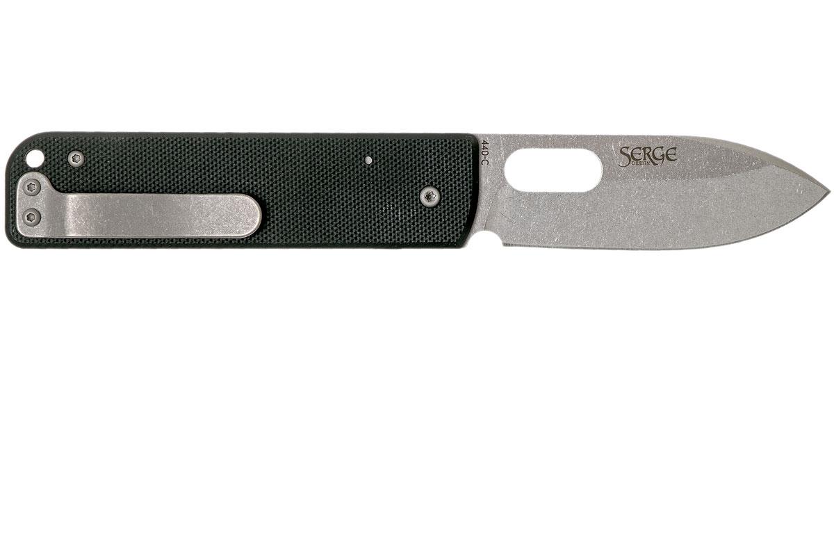Фото 8 - Нож складной Boker Plus Lancer Black, сталь 440C Stonewash Plain, рукоять стеклотекстолит G10, чёрный, Boker 01BO068