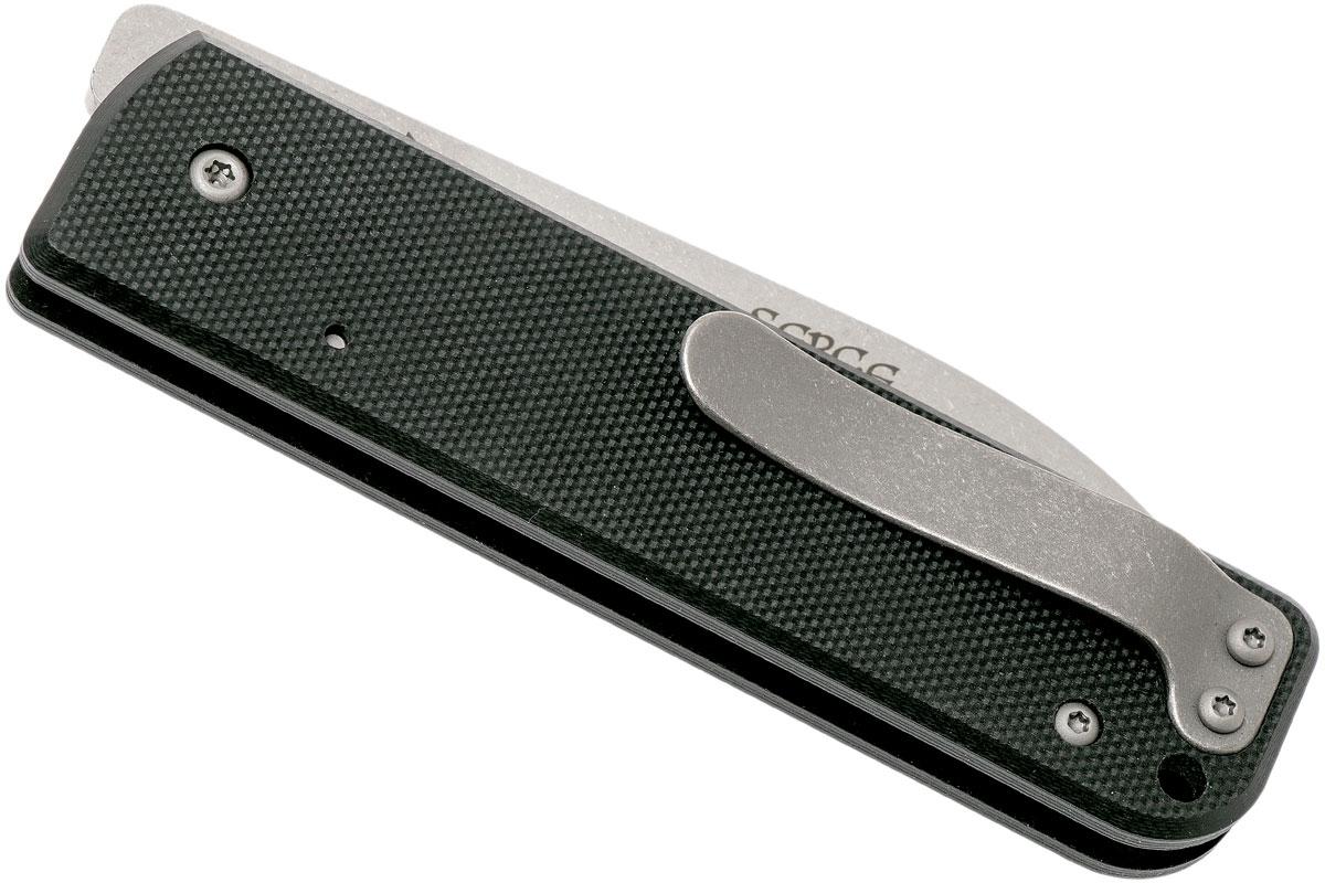 Фото 10 - Нож складной Boker Plus Lancer Black, сталь 440C Stonewash Plain, рукоять стеклотекстолит G10, чёрный, Boker 01BO068