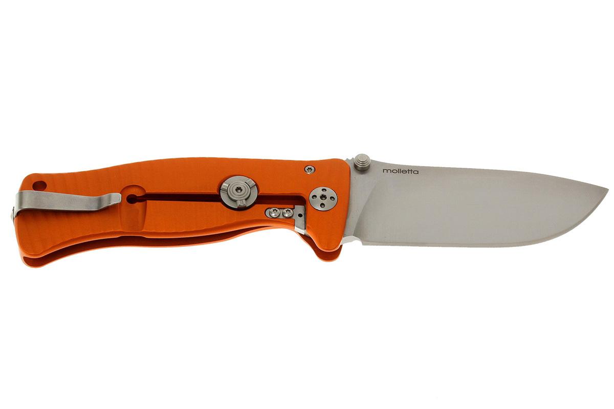 Фото 10 - Нож складной LionSteel SR1A OS ORANGE, сталь D2 Satin Finish, рукоять алюминий (Solid®), оранжевый от Lion Steel