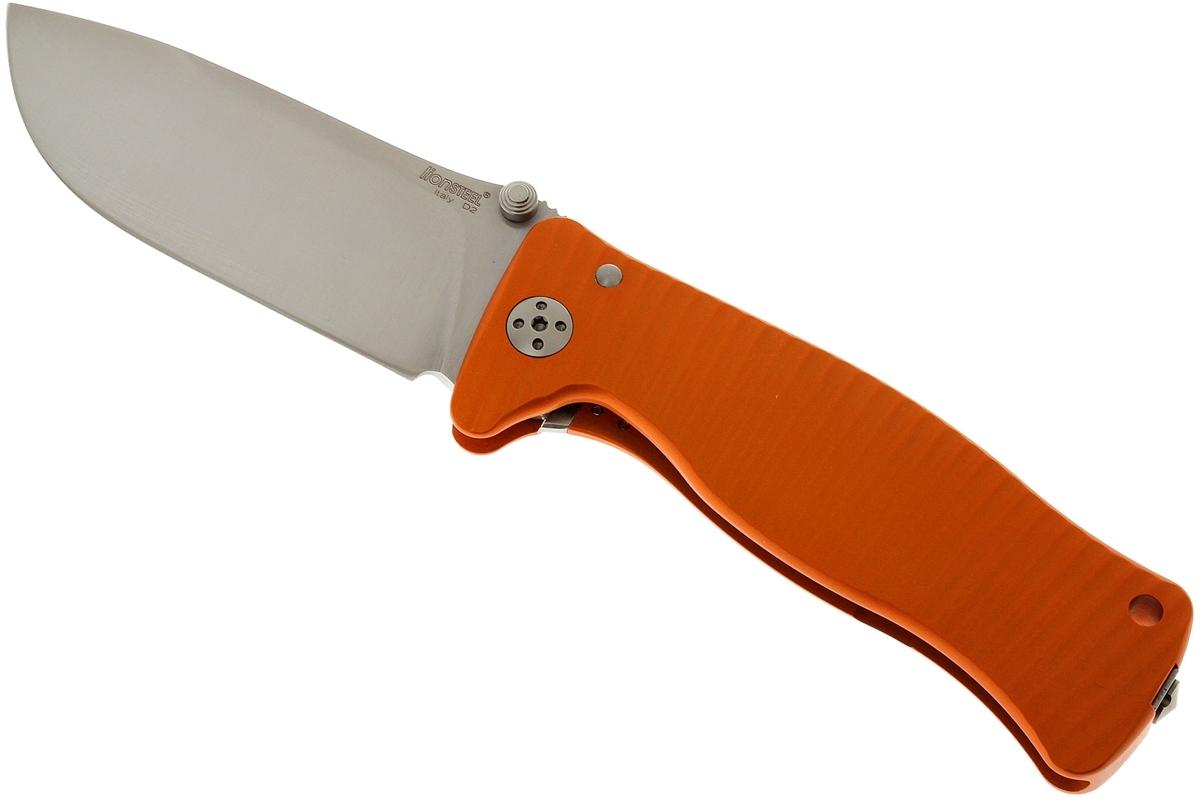 Фото 11 - Нож складной LionSteel SR1A OS ORANGE, сталь D2 Satin Finish, рукоять алюминий (Solid®), оранжевый от Lion Steel