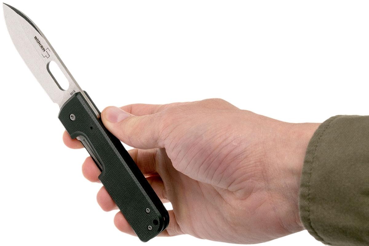 Фото 6 - Нож складной Boker Plus Lancer Black, сталь 440C Stonewash Plain, рукоять стеклотекстолит G10, чёрный, Boker 01BO068