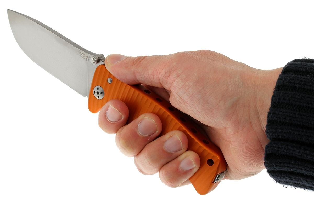 Фото 8 - Нож складной LionSteel SR1A OS ORANGE, сталь D2 Satin Finish, рукоять алюминий (Solid®), оранжевый от Lion Steel