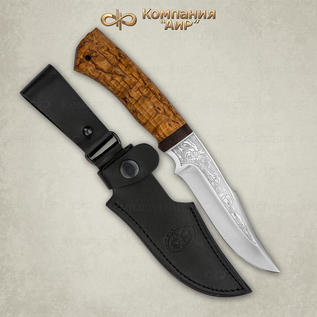 Нож АиР Хазар, сталь 110х18 М-ШД, рукоять карельская береза нож бекас карельская береза 110х18 м шд