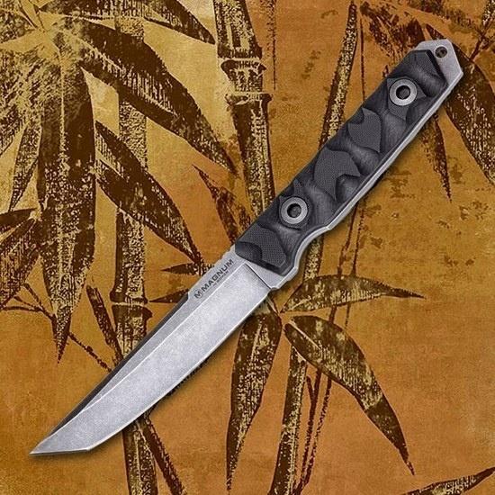Фото 8 - Нож с фиксированным клинком Magnum Sierra Delta Tanto - Boker 02SC016, сталь 440A BlackWash™, рукоять стеклотекстолит G10, чёрный