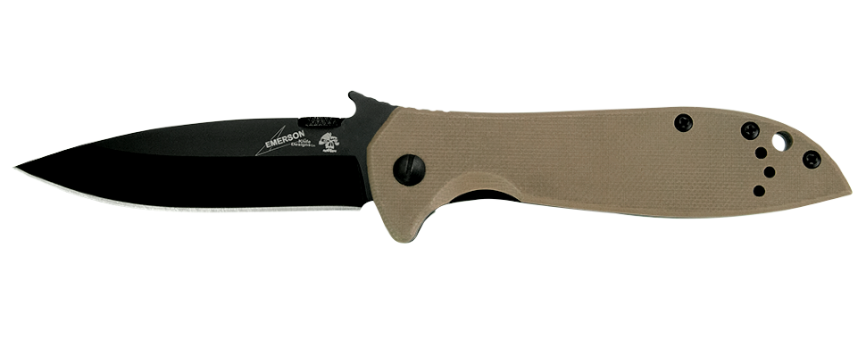 Фото 8 - Складной нож Kershaw Emerson CQC-4K K6054BRNBLK, сталь 8Cr14MoV, рукоять сталь/G-10