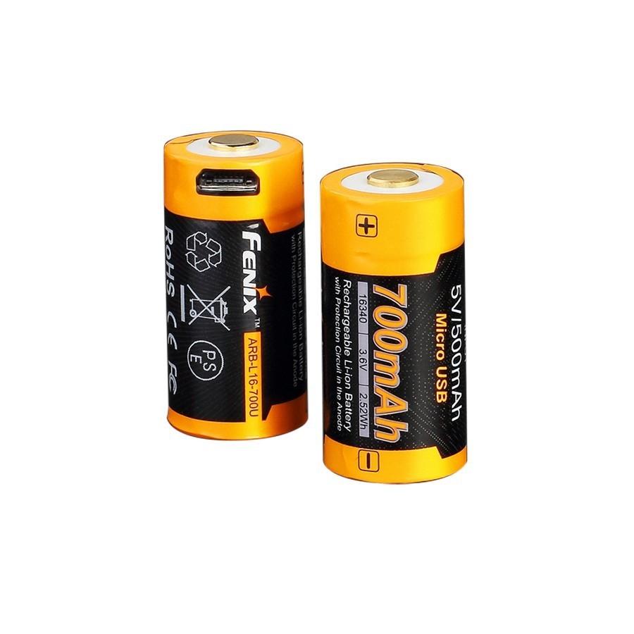 цена на Аккумулятор 16340 Fenix 700 mAh Li-ion с разъемом для USB