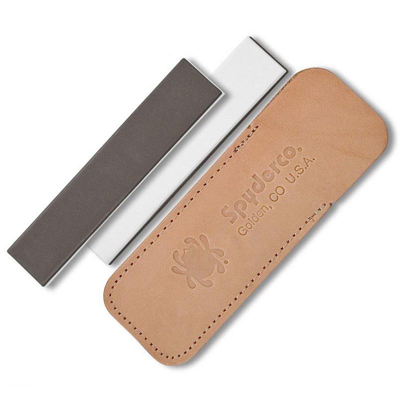 Фото 3 - Карманная точилка Spyderco DOUBLE STUFF™ Pocket Stone Fine/Med Grit, керамика, 303MF